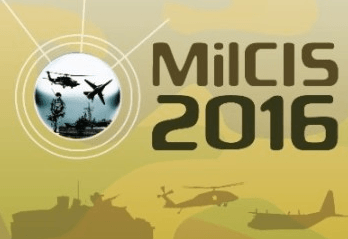 We're exhibiting at MilCIS 2016